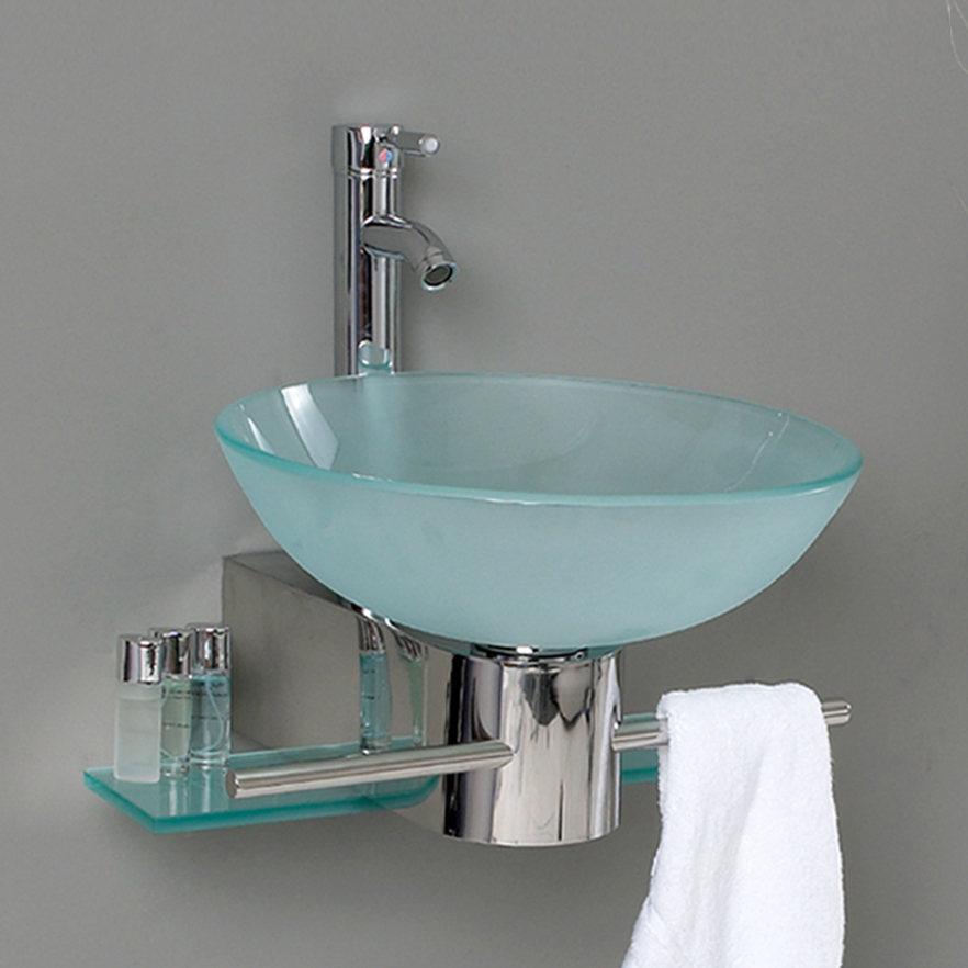 bathroom glass sinks